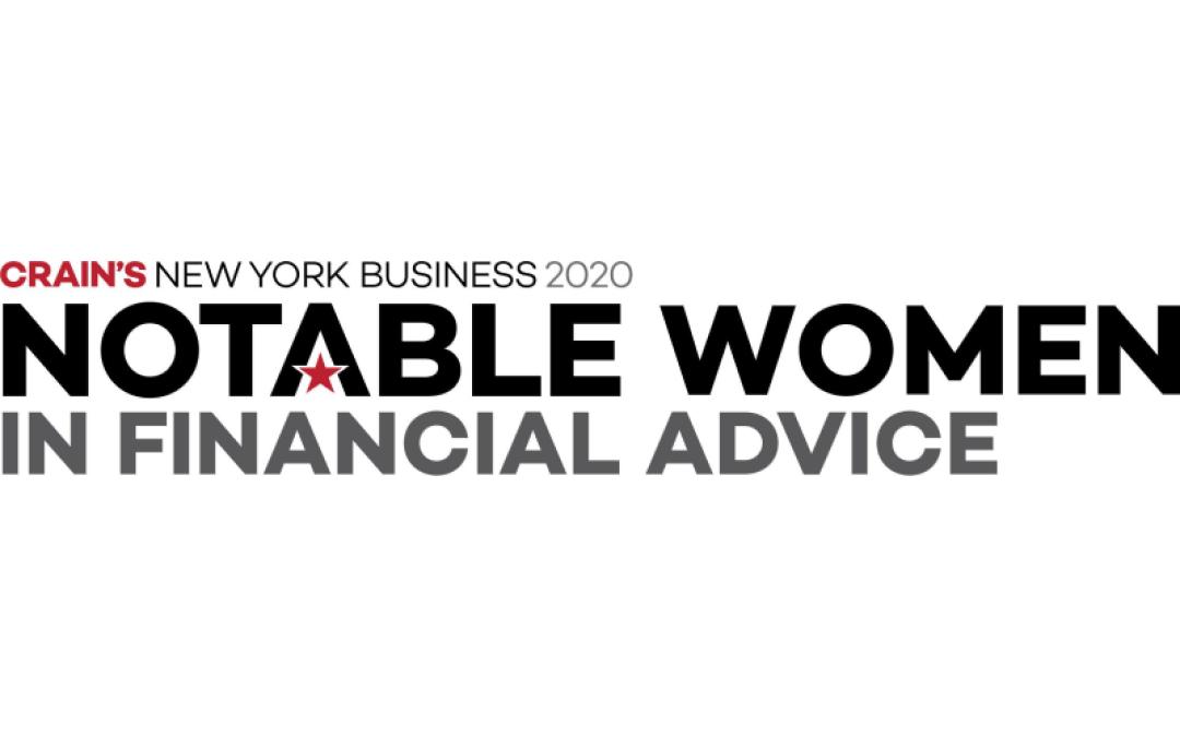 Crain's New York Business Honors Joyce Streithorst, CFP®, MSFS, CDFA